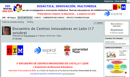 III Encuentro de Centros Innovadores de Castilla y León, evento mes de octubre
