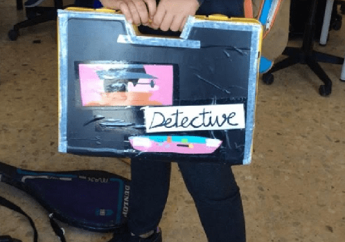 un escape room de detectives