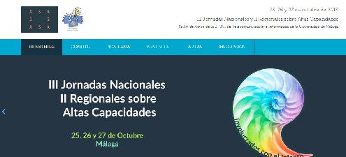 III Jornadas Nacionales y II Regionales sobre Altas Capacidades, congreso mes de octubre