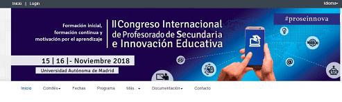 II Congreso Internacional de Profesorado de Educación Secundaria e Innovación Educativa