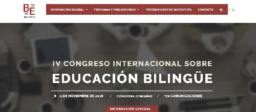 IV Congreso Internacional sobre Educación Bilingüe