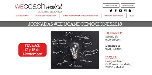 Jornadas #EducandoEmociones2018