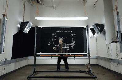 Pizarra que graba vídeo- Lightboard