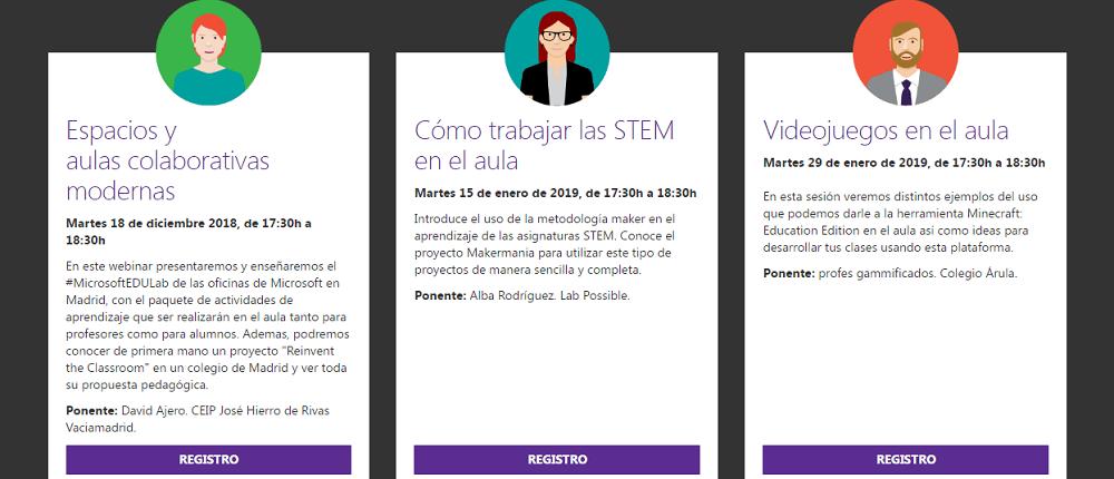 webinars gratuitos de Microsoft