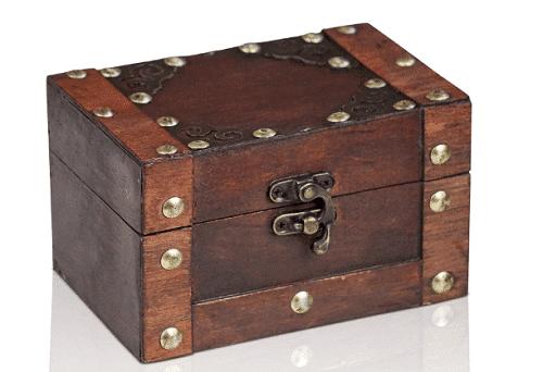 cofre del tesoro: kit de escape room