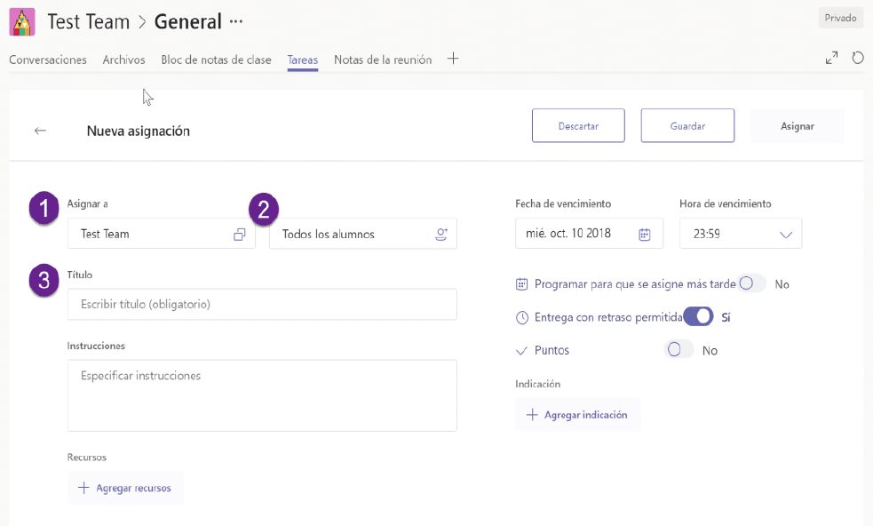 test Microsoft Teams