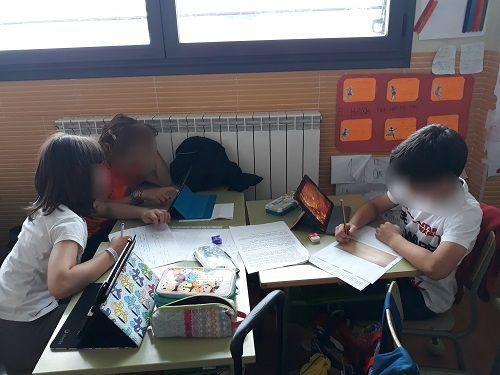 alumnos de Primaria CEIP Gil Tarín de La Muela (Zaragoza)