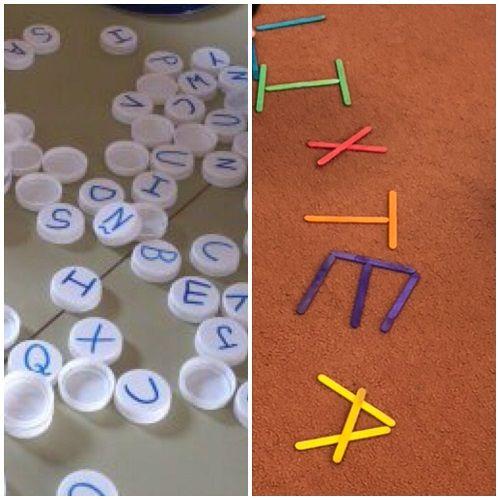 Actividades con materiales de la vida cotidiana- lectoescritura en Infantil
