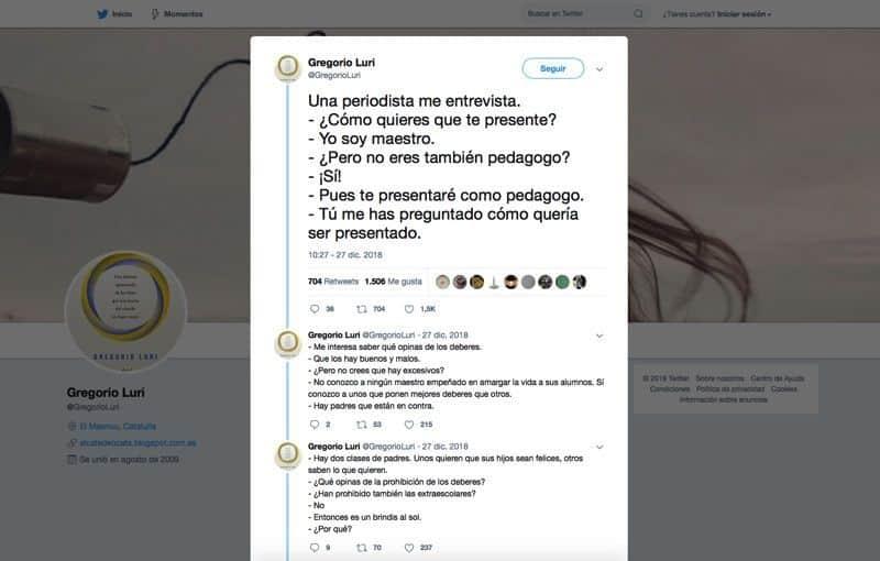 Hilos de Twitter: Gregorio Luri