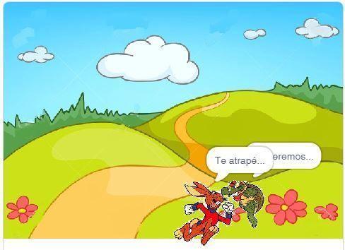 La liebre y la tortuga Scratch