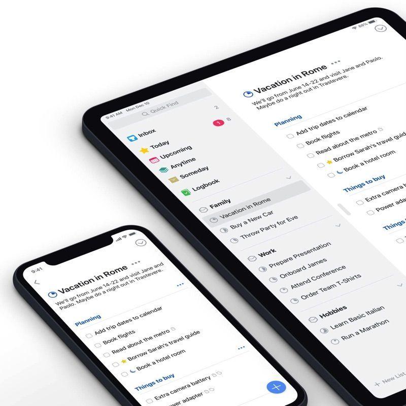 Things 3: apps para organizarse