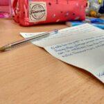 Ejercicio de escritura creativa con alumnos de Primaria