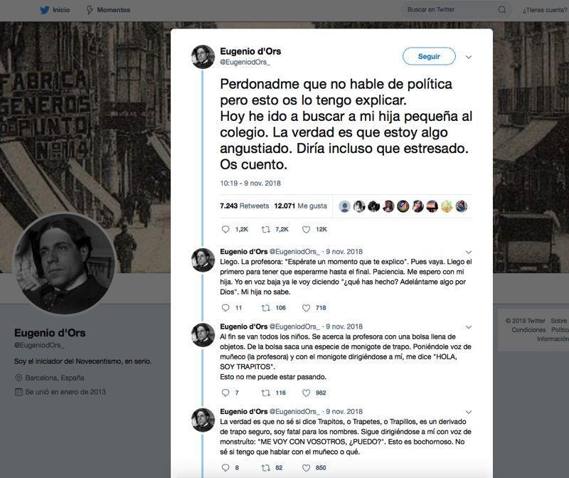 Twitter sobre educación Eugenio D'Ors