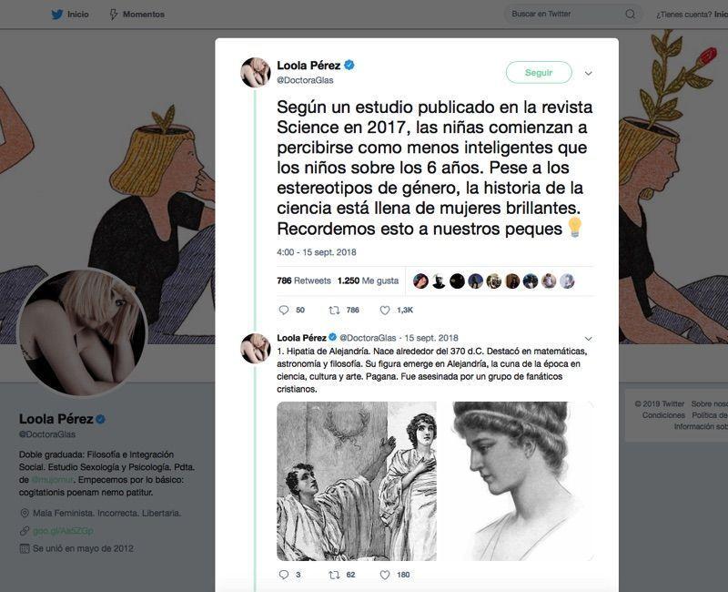 Hilos de Twitter Loola Pérez