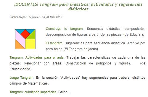 Tangram para maestros: actividades y sugerencias didácticas