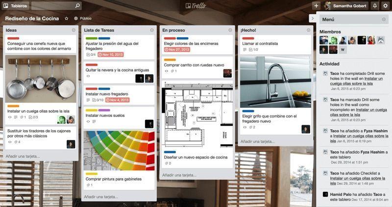 Apps para organizar tareas Trello
