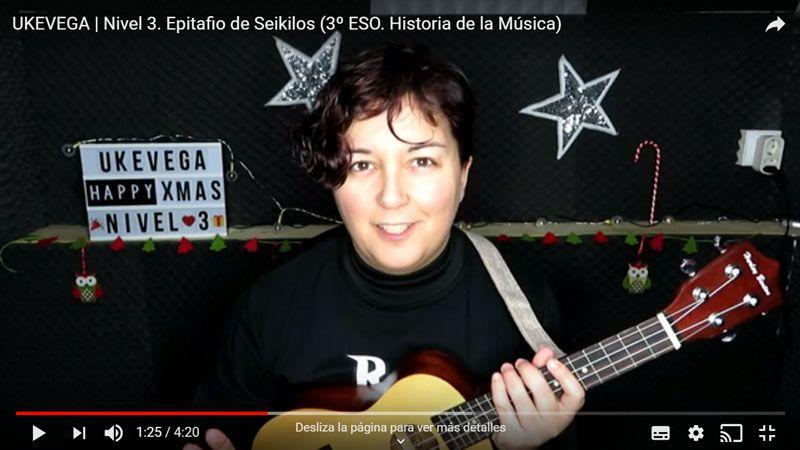 ukevega proyecto musica ukelele gamificacion video