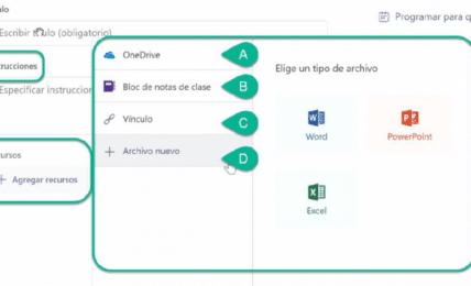 tareas y rúbricas en Microsoft Teams