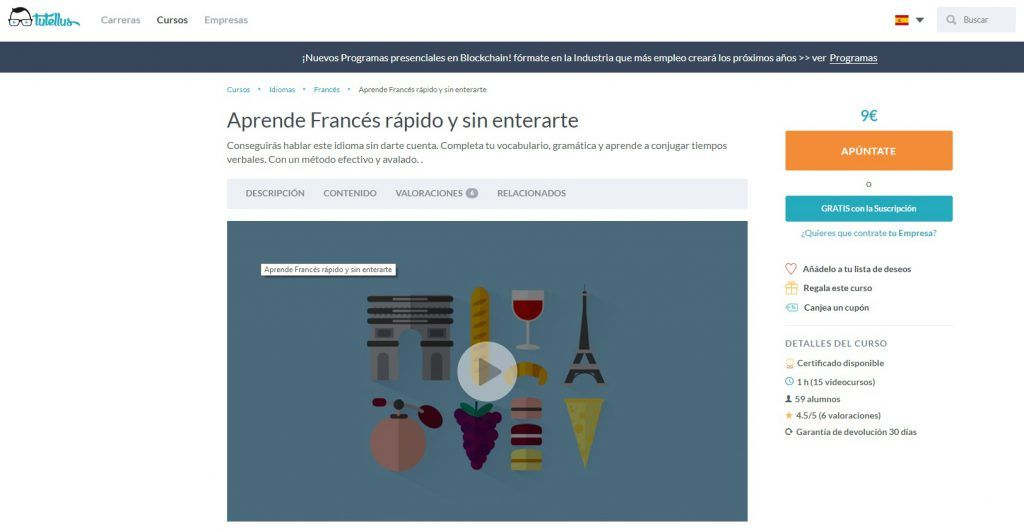 Aprende Francés rápido y sin enterarte