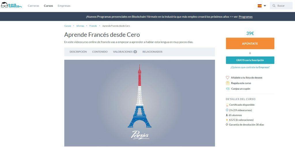Curso online para aprender francés desde 0