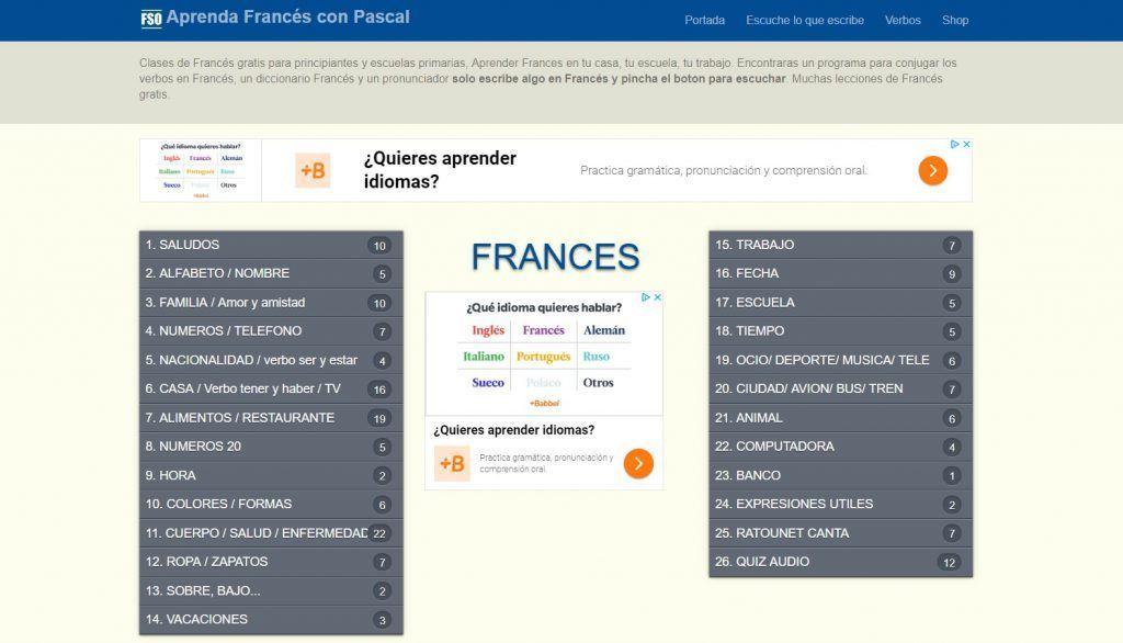 Curso de Francés para principiantes