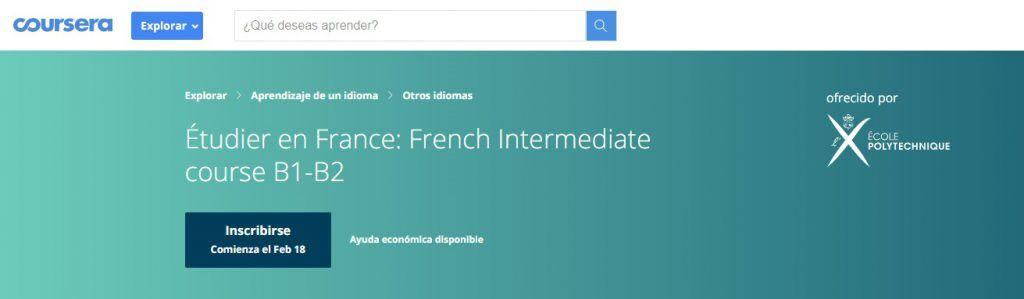 Estudiar en Francés: Nivel intermedio