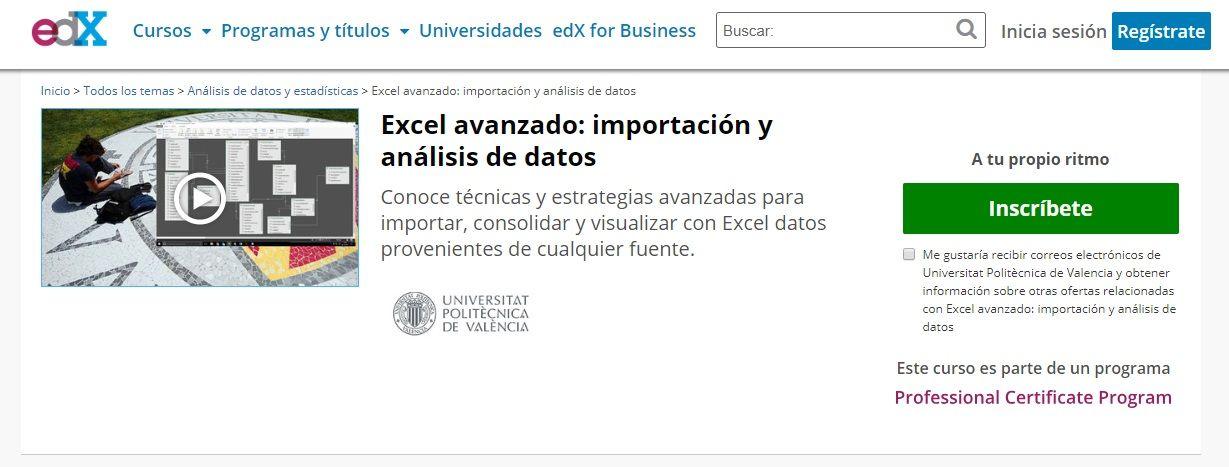 Excel avanzado: importación y análisis de datos
