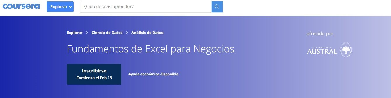 Fundamentos de Microsoft Excel para Negocios