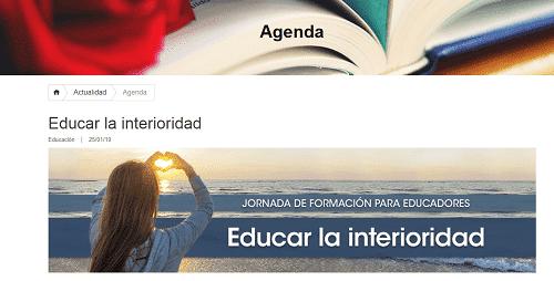 educar en la interioridad: eventos educativos de marzo