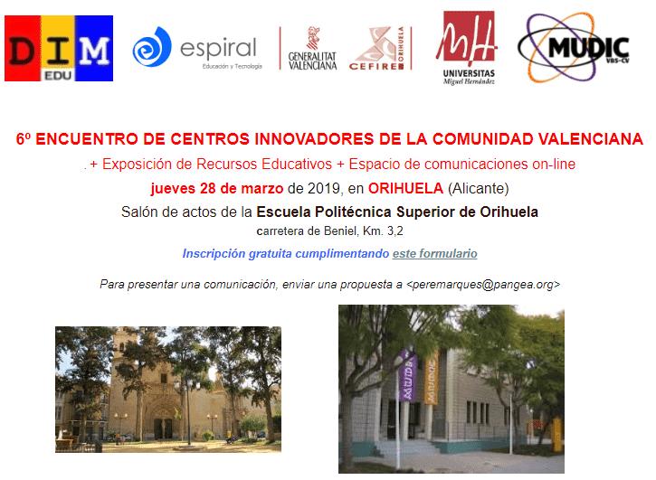 6º encuentro de centros innovadores de la Comunidad Valenciana: eventos educativos de marzo