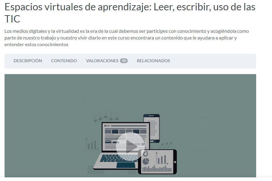 Espacios virtuales de aprendizaje