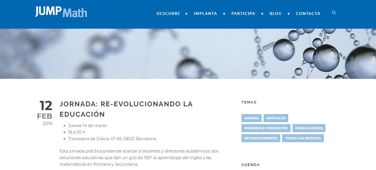 JORNADA: RE-EVOLUCIONANDO LA EDUCACIÓN: eventos educativos de marzo