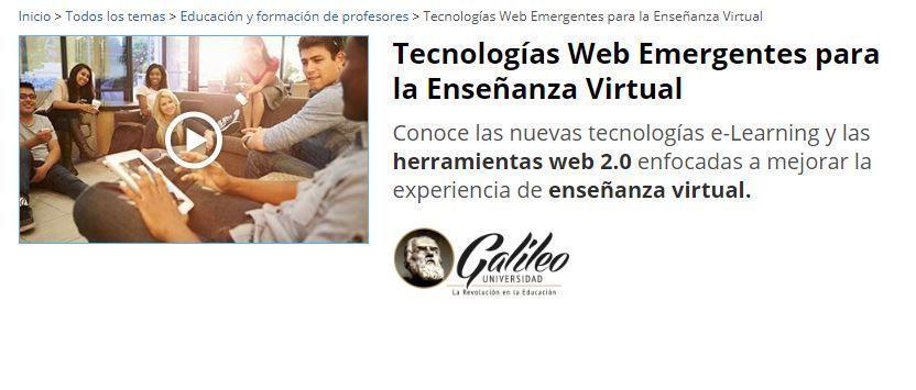Curso TIC sobre Tecnologías Web Emergentes
