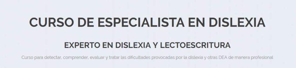 Curso de especialista en dislexia