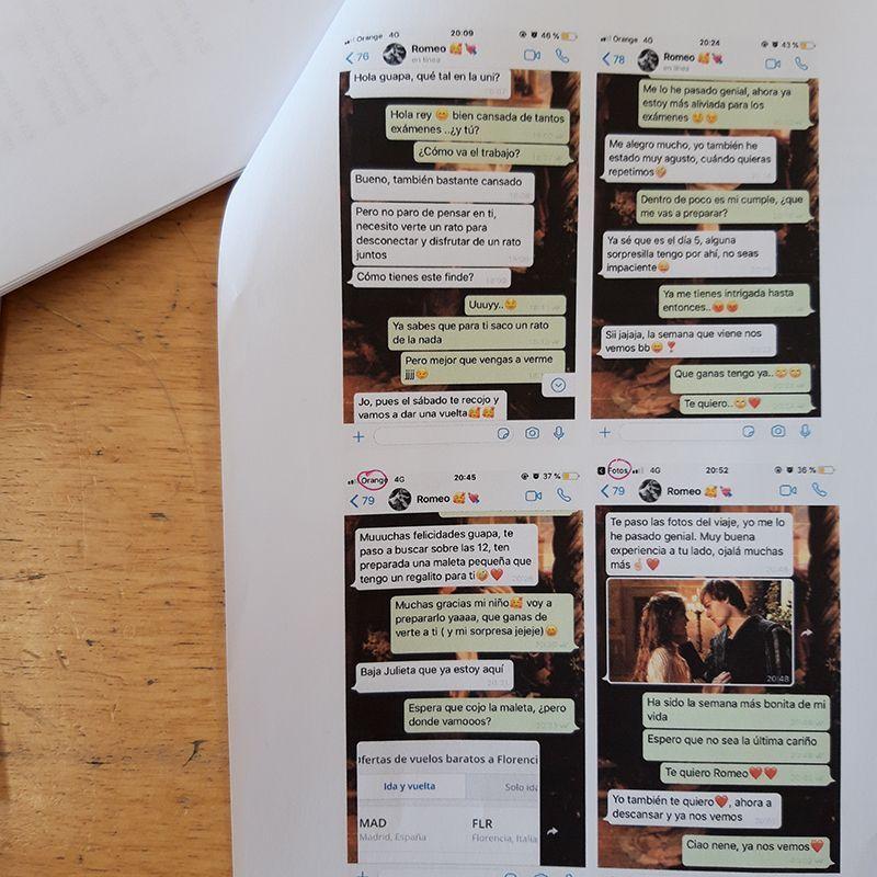 Cartas de amor por WhatsApp