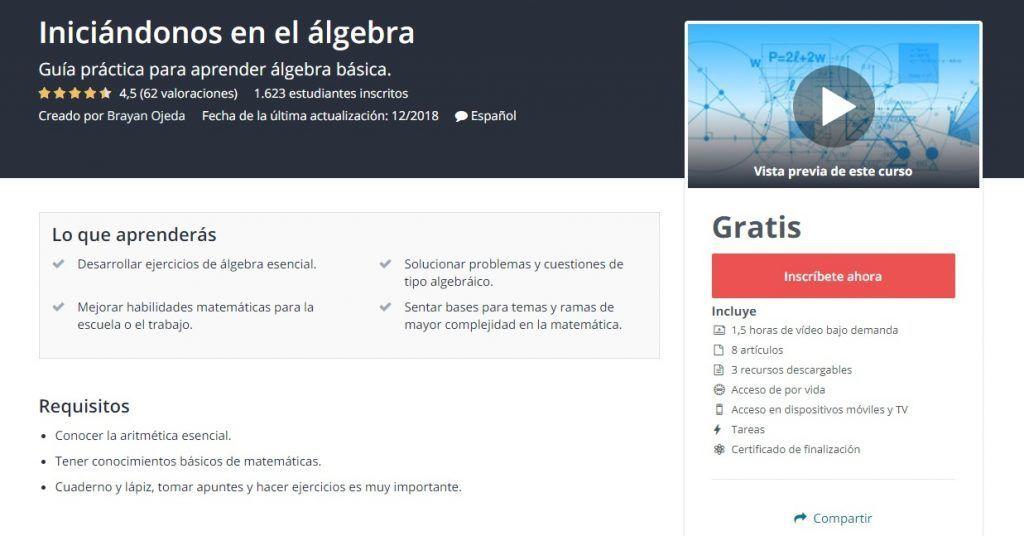 Curso de iniciación al álgebra