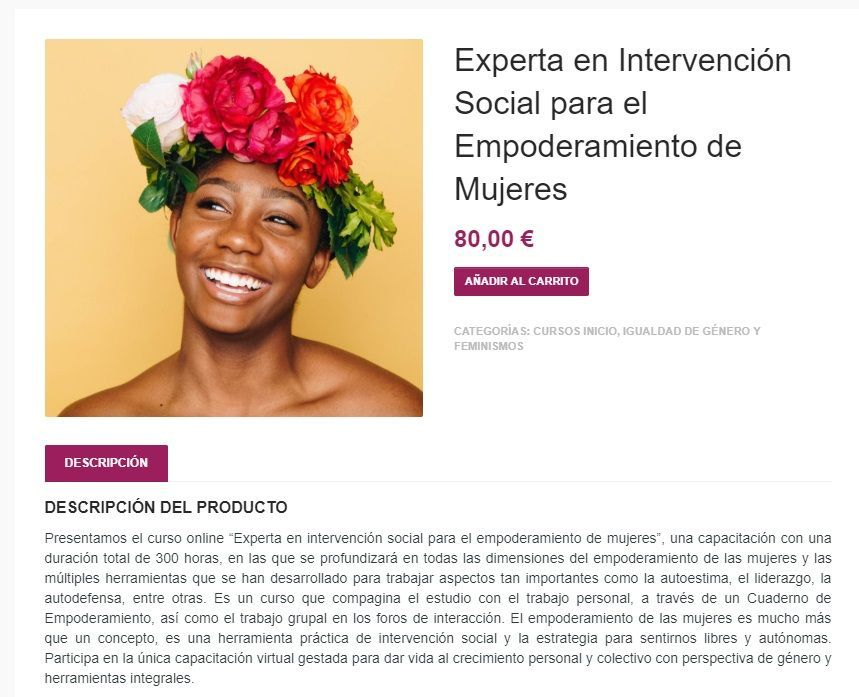 Experta en Intervención Social para el Empoderamiento de Mujeres