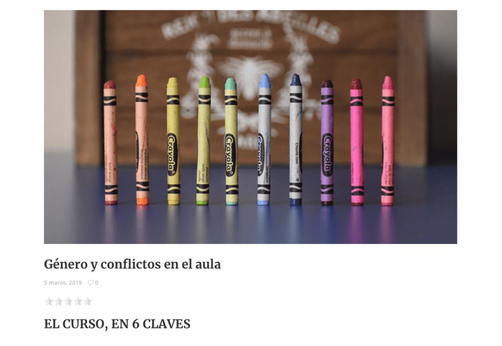 Género y conflictos en el aula
