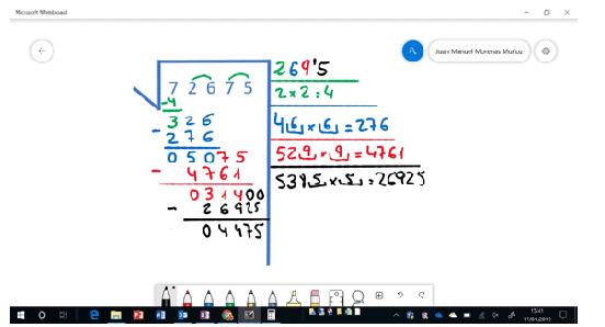Microsoft Whiteboard, colegios el Valle