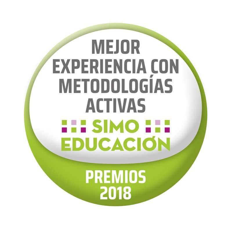 sello de SIMO-Mejor Experiencia con metodologías activas