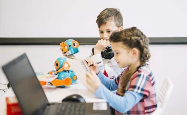 niños extraescolar robótica