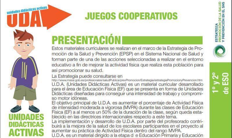 juegos ministerio Actividades deportivas en el aula que fomentan la paz
