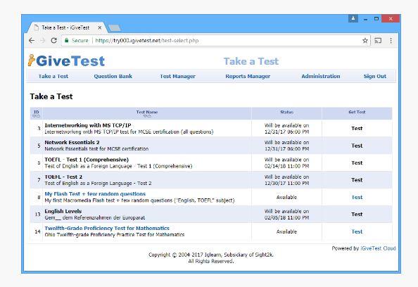 iGiveTest herramientas para corregir exámenes