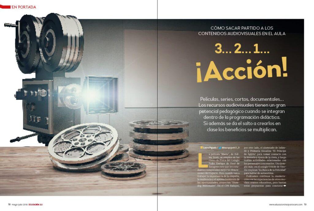 imagen en portada revista educación 3.0