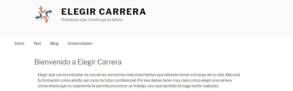 Elegir Carrera