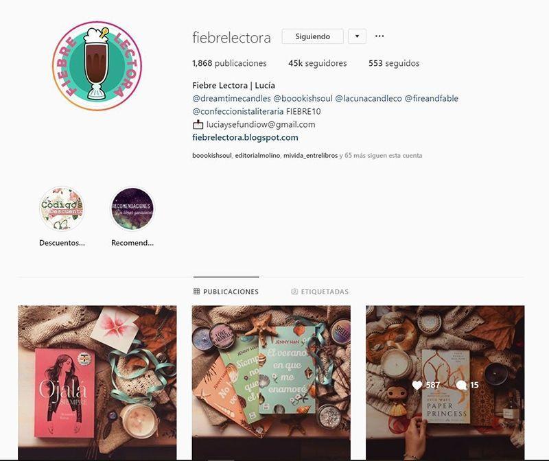 Cuentas literarias Instagram