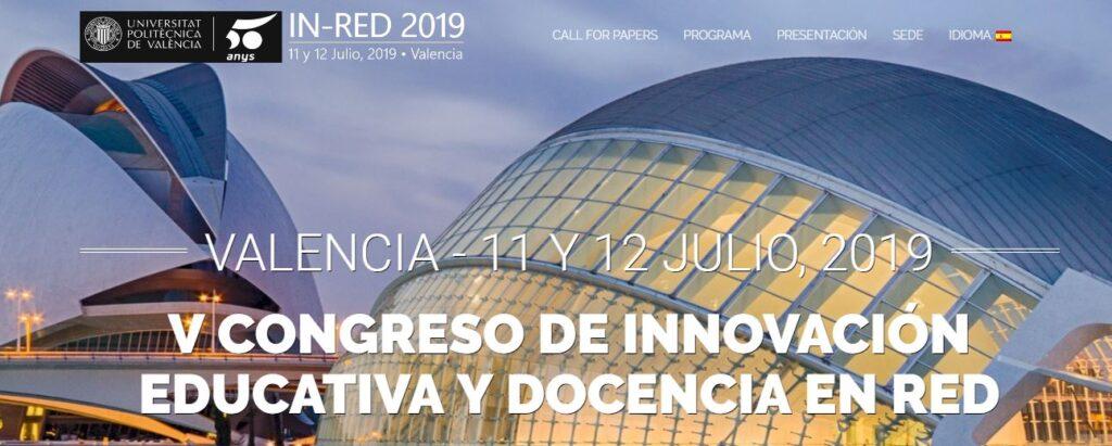 IN-RED eventos educativos de julio 2019