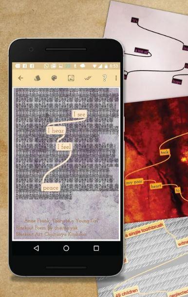 Blackout Bard poesía apps de poesía