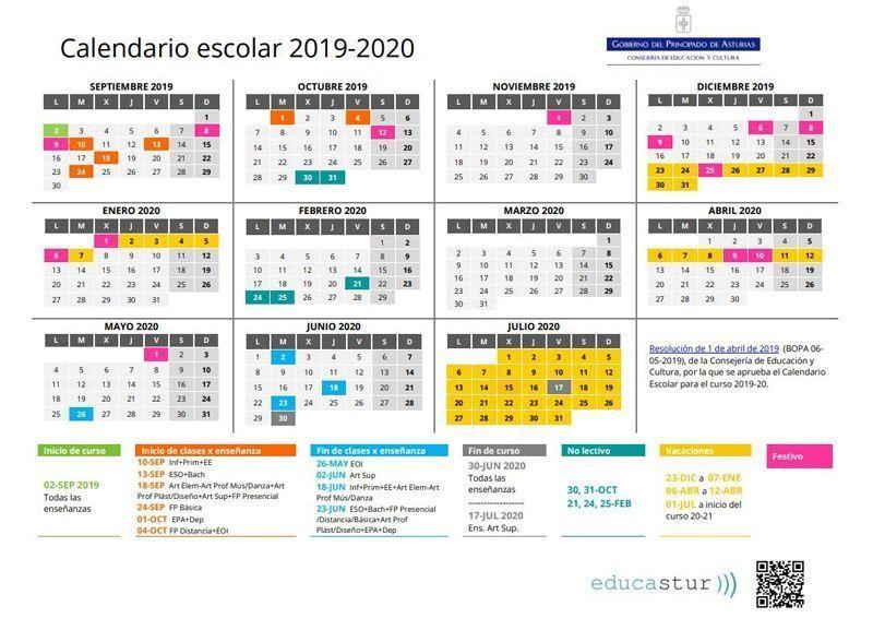 Calendario Asturias