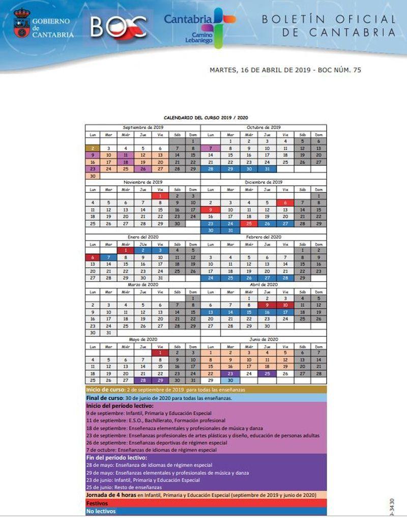 Calendario Escolar Aragon 2020.Calendario Escolar 2019 2020 Por Comunidades Y Ciudades Autonomas
